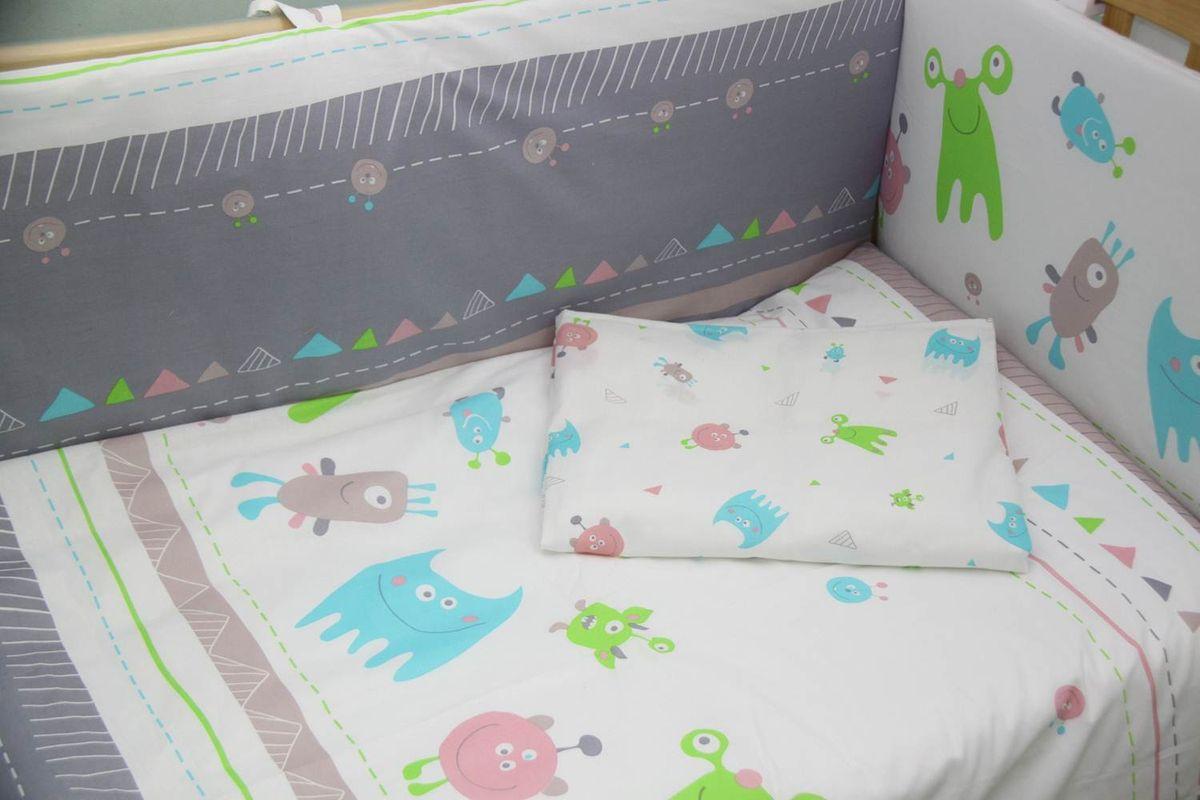цена Polini Комплект белья для новорожденных Монстрики 3 предмета 1217 онлайн в 2017 году