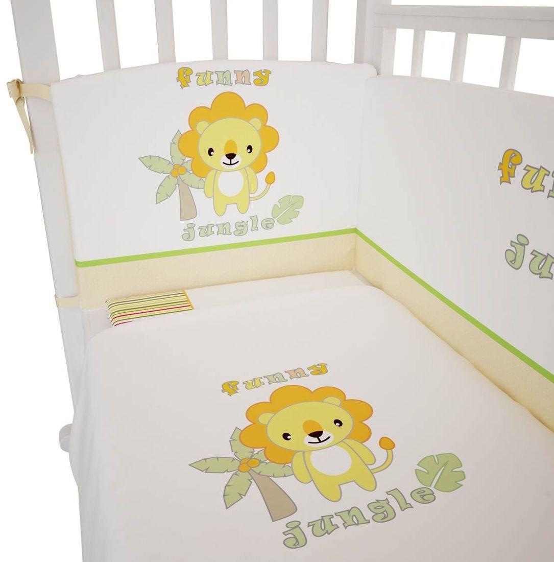 все цены на Polini Комплект белья для новорожденных Джунгли 3 предмета 1248 онлайн