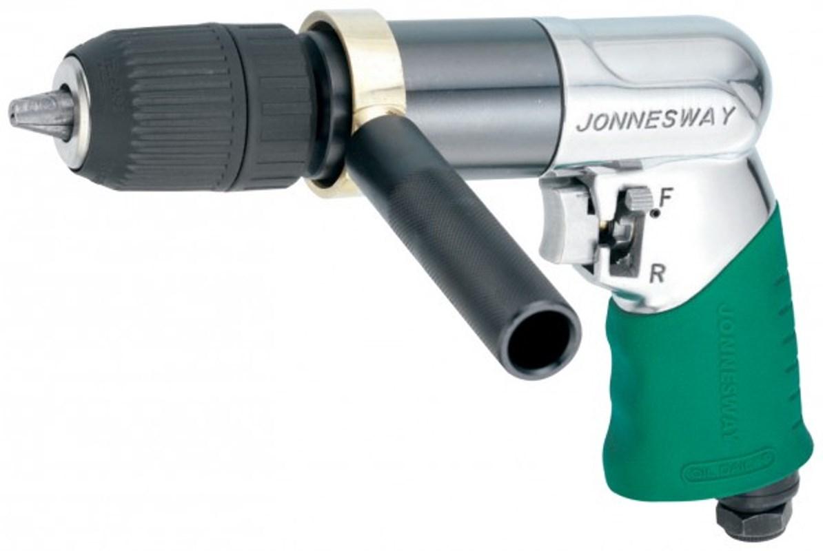 Дрель пневматическая Jonnesway, с реверсом, быстрозажимной патрон 13 мм, 800 об/мин, 113 л/мин цена