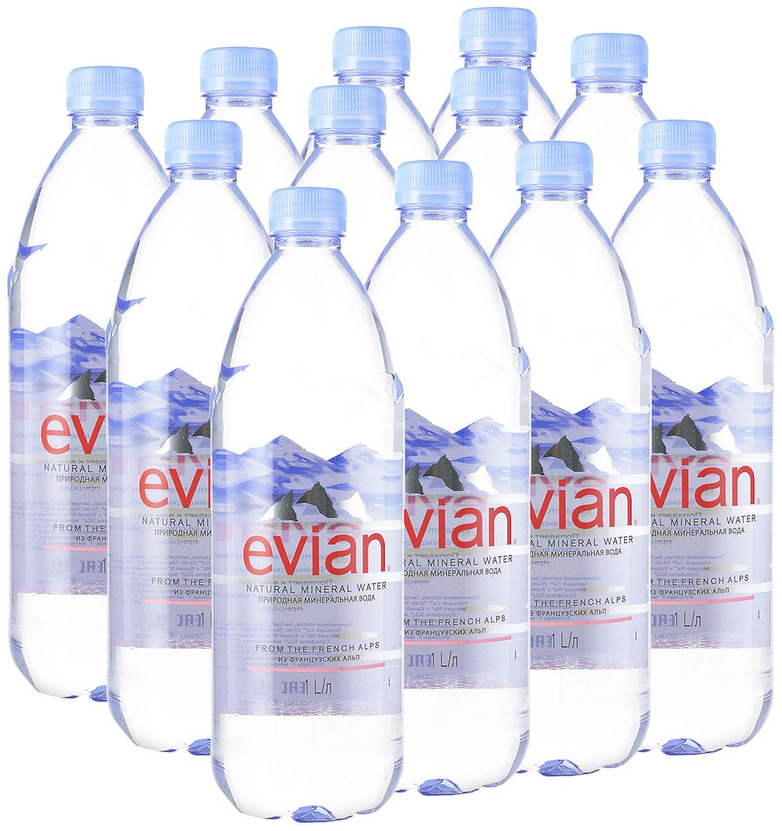 Evian вода минеральная природная столовая негазированная, 12 штук по 1 л340023602_блокиEvian - природная минеральная вода. Уникальный минеральный состав природной воды Evian способствует поддержанию водного баланса в организме. Формат 1 л прекрасно подойдет для дома и работы. О бренде: Источник Evian находится на бережно охраняемой территории, в самом сердце французских Альп. В процессе естественной фильтрации горными породами в течение 15 лет природная минеральная вода Evian приобретает уникальный сбалансированный минеральный состав и, непосредственно у источника, разливается в бутылки. Рекомендуем!