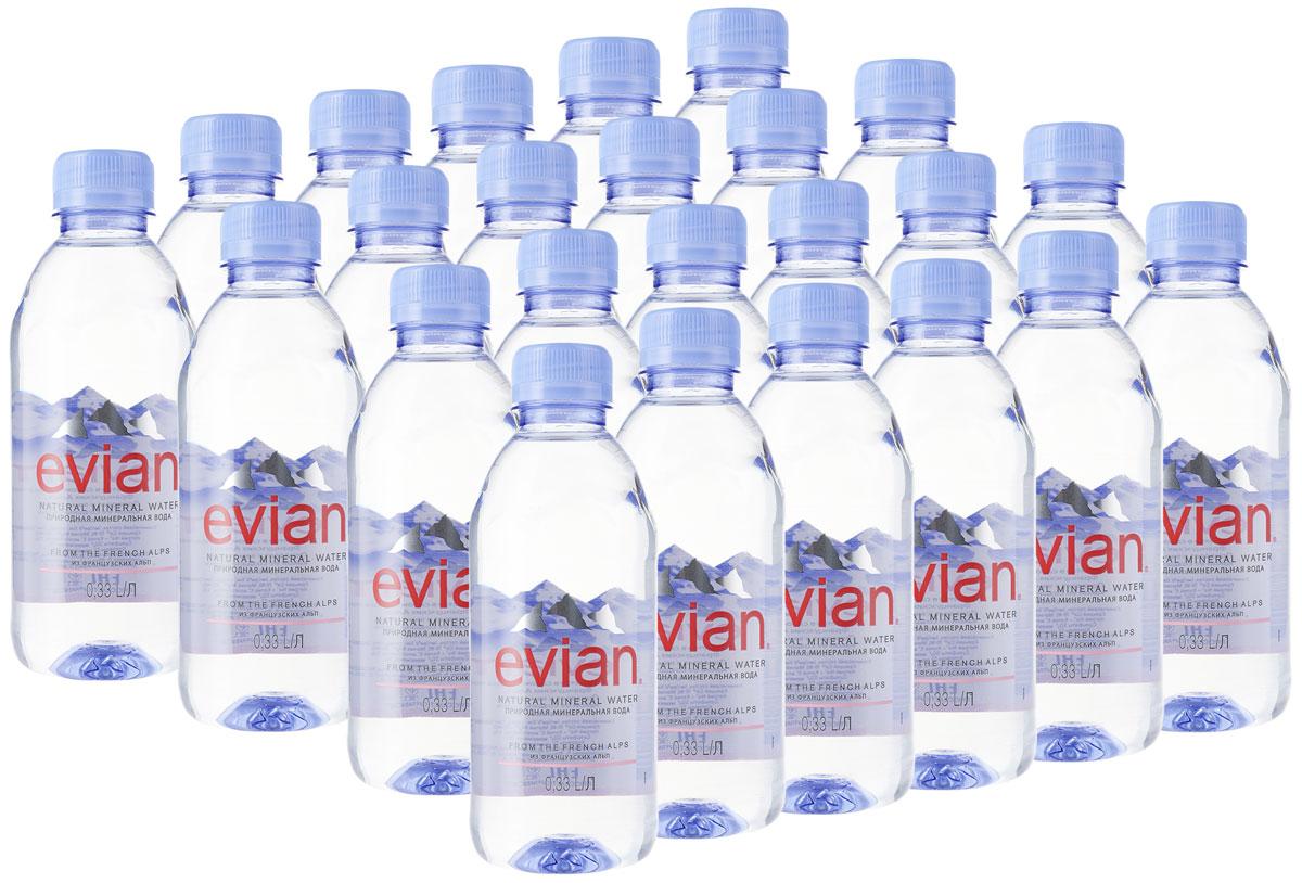 Evian вода минеральная природная столовая негазированная, 24 шт по 0,33 л340023600_блокиEvian - природная минеральная вода. Уникальный минеральный состав природной воды Evian способствует поддержанию водного баланса в организме. Формат 0,33 л. Идеально подходит для ситуаций потребления вне дома, удобно и легко положить в сумку. О бренде: Источник Evian находится на бережно охраняемой территории, в самом сердце французских Альп. В процессе естественной фильтрации горными породами в течение 15 лет природная минеральная вода Evian приобретает уникальный сбалансированный минеральный состав и, непосредственно у источника, разливается в бутылки. Сколько нужно пить воды: мнение диетолога. Статья OZON Гид Рекомендуем!