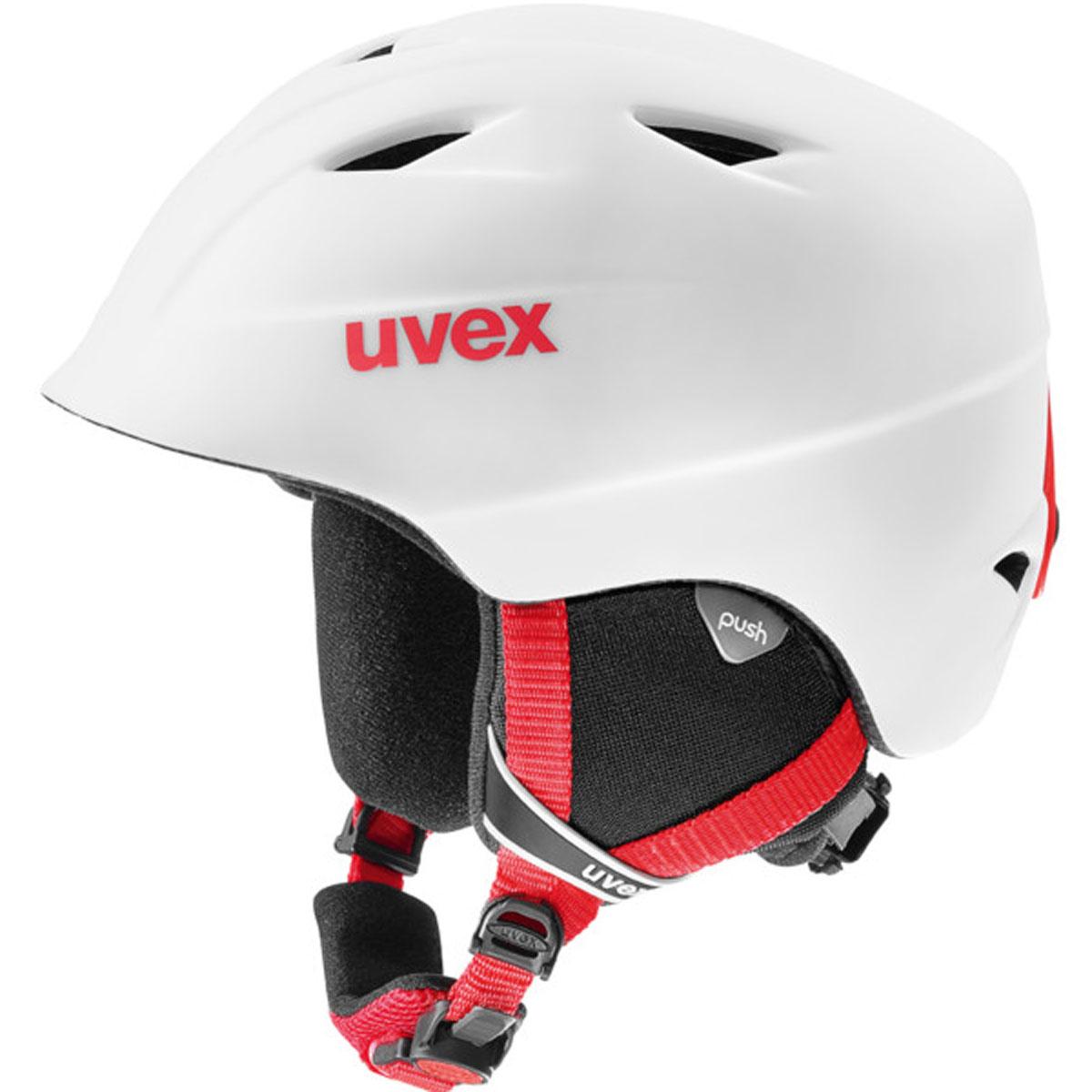 Шлем горнолыжный детский Uvex Airwing 2 Pro Kid's Helmet, цвет: белый, красный матовый. Размер XS шлем горнолыжный для мальчика uvex airwing 2 kid s helmet 6132 46 синий размер xxs