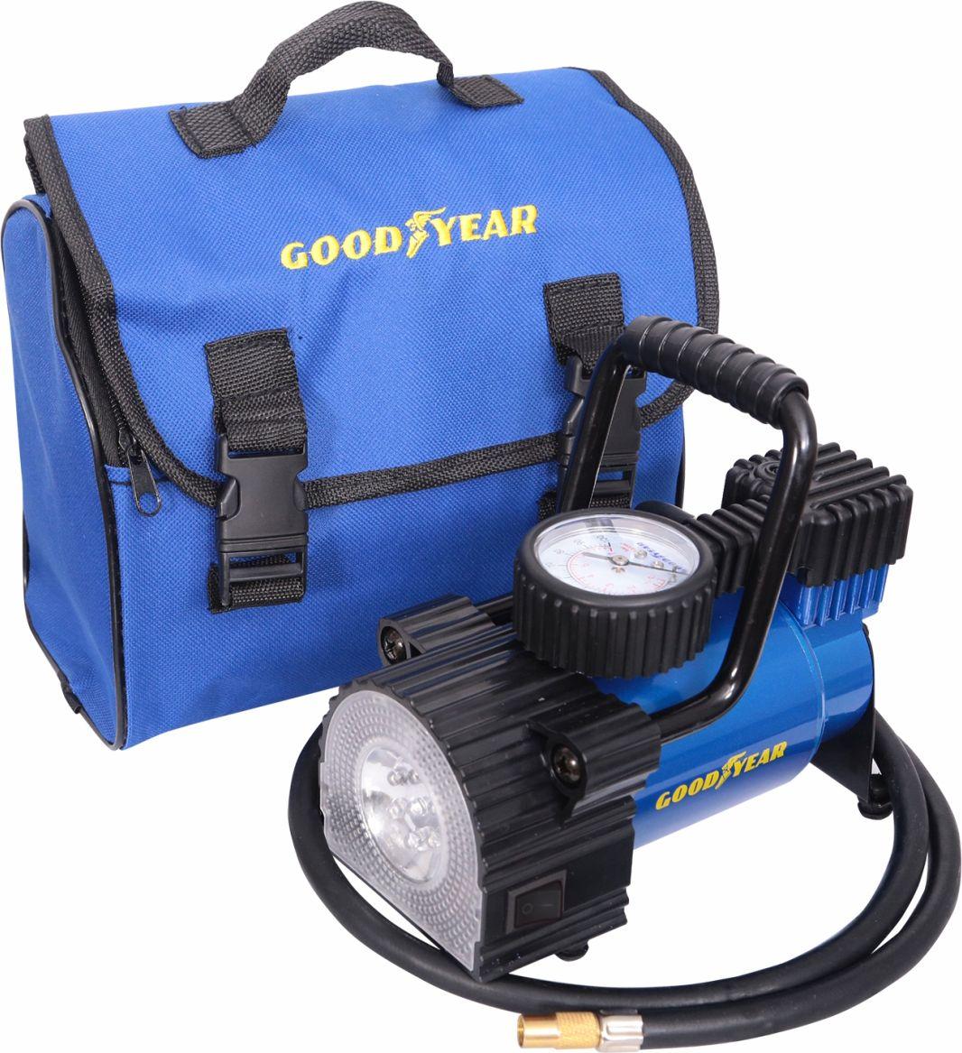 Компрессор автомобильный Goodyear GY-30L LED, с фонарем и со съемной ручкой, 30 л/мин