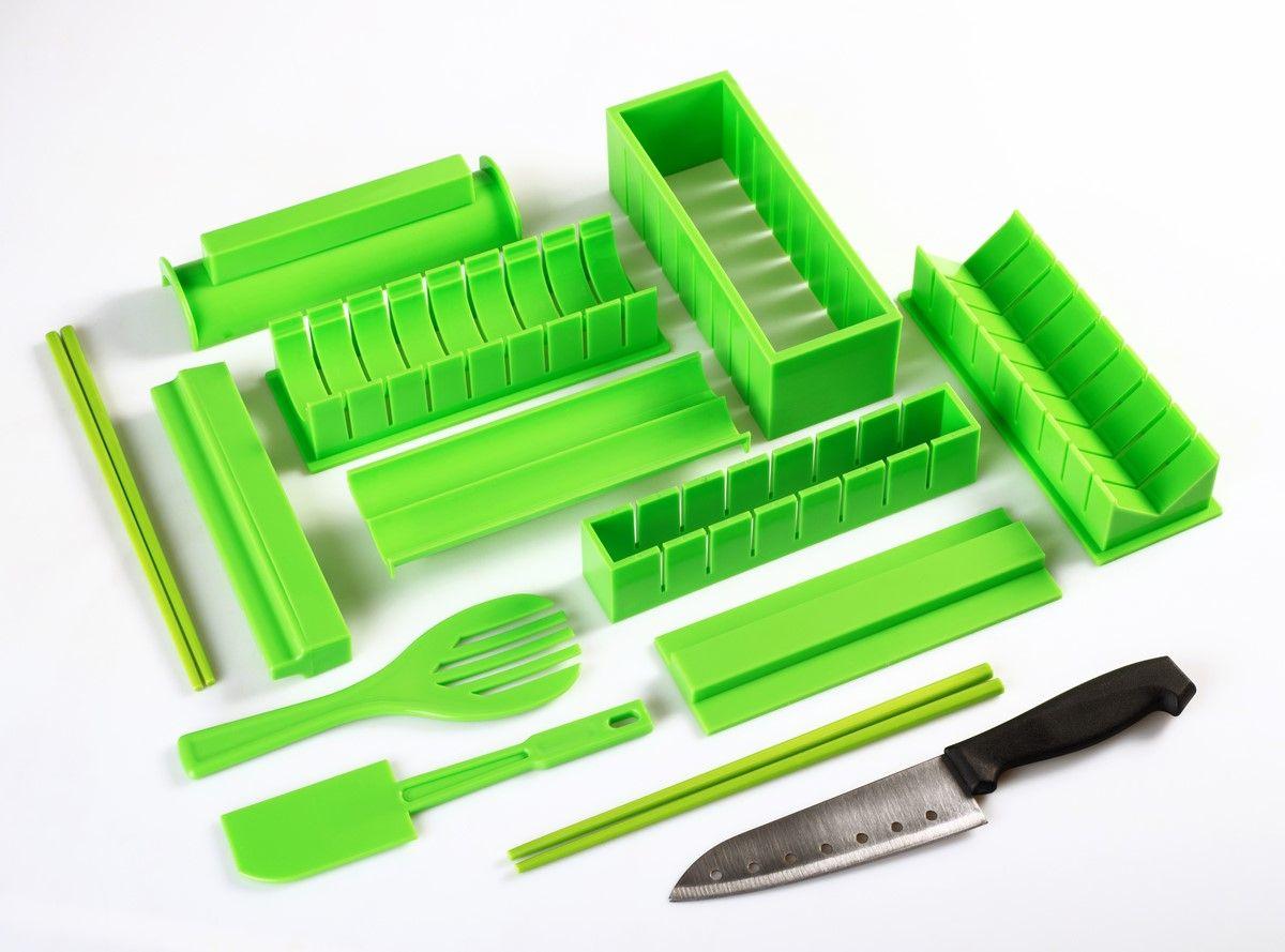 """Набор для приготовления роллов Ругес """"Суши"""", цвет: светло-зеленый"""