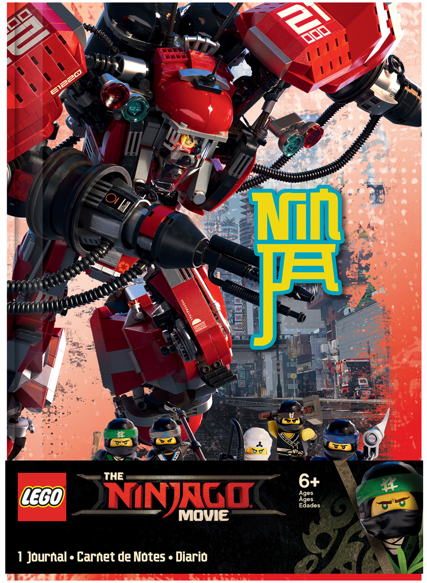 Блокнот LEGO NINJAGO Kai, 96 листов в линейку блокнот pocket 96 листов в линейку бордовый