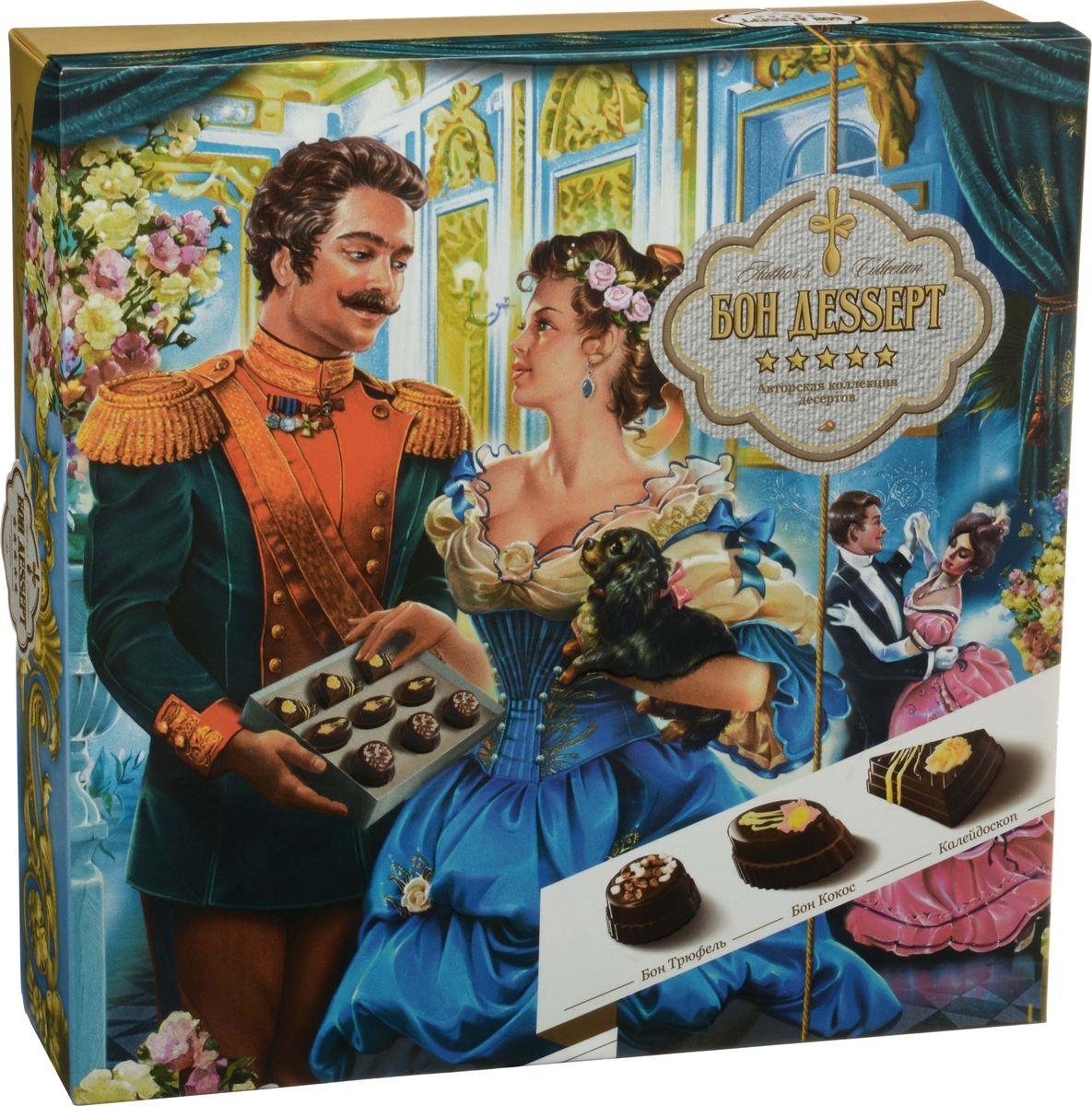 Бон Деssерт ассорти шоколадных конфет-десертов ручной работы На балу, 230 г tomer набор шоколадных конфет tomer ассорти лесной орех 250г