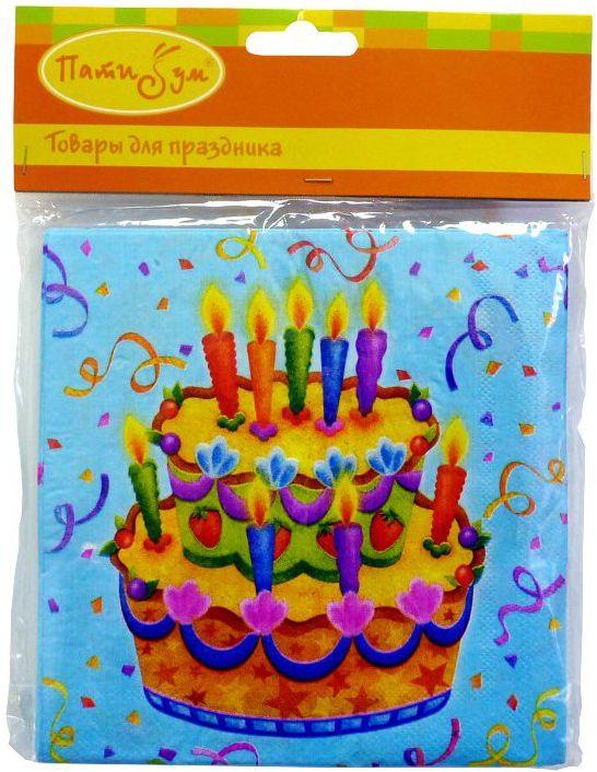 Пати Бум Скатерть Праздничный торт 140 х 180 см карнавальные очки праздничный торт цвет желтый