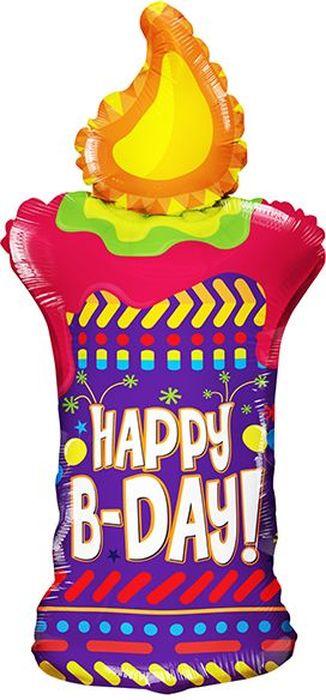 Конвер Шарик воздушный С Днем Рождения Свеча конвер шарик воздушный с днем рождения принцесса