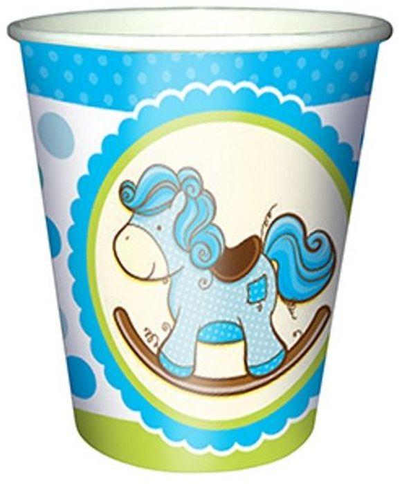 Пати Бум Стакан бумажный Лошадка Малыш цвет голубой 250 мл 6 шт6046668Стаканы бумажные, объемом 250мл. Данные стаканы входят в состав коллекции праздничной одноразовой посуды Лошадка Малыш голубая и лучше всего их использовать для сервировки праздничного стола вместе с другими элементами из этой коллекции (тарелочки, скатерть и карнавальные аксессуары).
