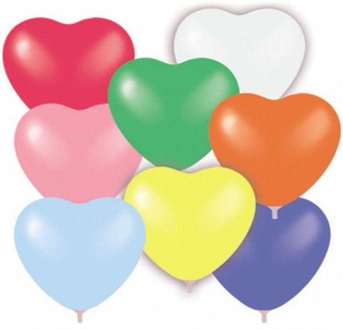 Шарик воздушный Сердце 8 цветов 50 шт96042943Воздушные шарики Сердце украсят интерьер к праздничному событию и создадут праздничное и веселое настроение. Воздушные шары неизменно ассоциируются с праздником - тем временем, когда от всего, что происходит вокруг, захватывает дыхание! Наполните их воздухом или гелием, разбросайте по полу или отпустите под потолок, соберите в фонтаны или создайте воздушные фигуры. Фантазируйте, и помещение наполнится неповторимыми красками! Вы удивитесь, какой восторг могут вызвать разноцветные шарики необычной формы.
