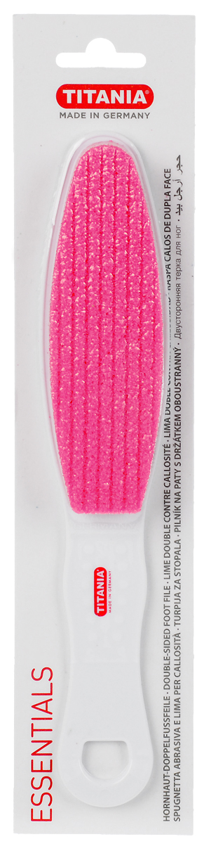 Titania Терка педикюрная, двусторонняя, цвет: розовый, белый цена