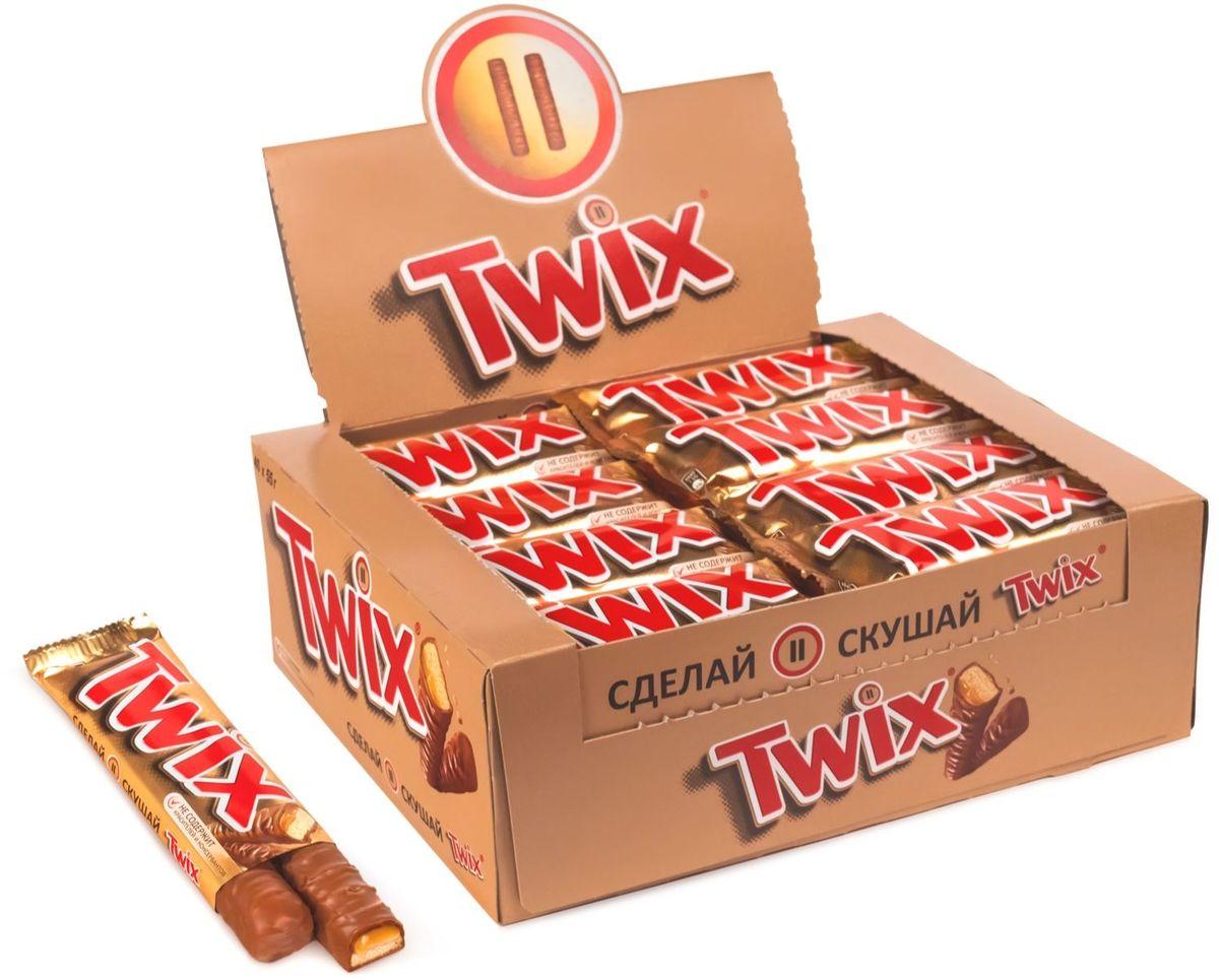 Twix шоколадный батончик, 40 шт по 55 г twix xtra шоколадный батончик 82 г