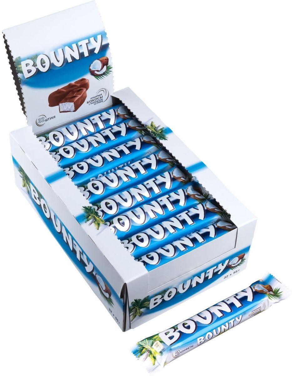 Bounty шоколадный батончик, 32 шт по 55 г bounty trio шоколадный батончик 82 5 г