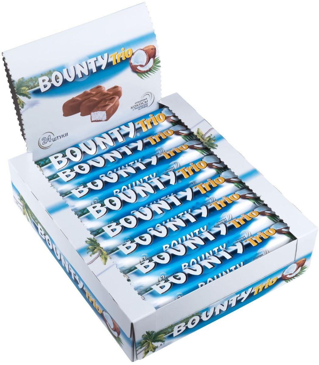 Bounty Trio шоколадный батончик, 24 шт по 82,5 г bounty trio шоколадный батончик 82 5 г