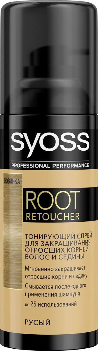 Syoss Root Retoucher Тонирующий спрей для закрашивания отросших корней и седины оттенок Русый