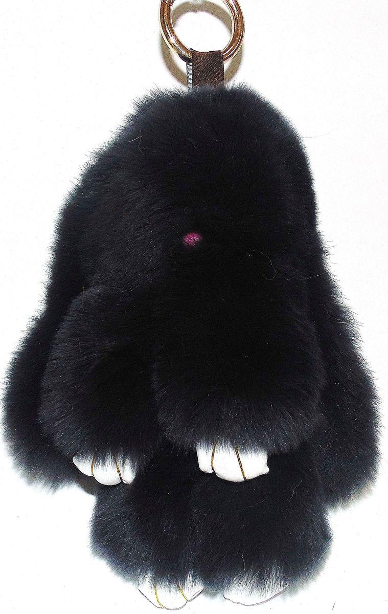 Vebtoy Брелок Пушистый кролик цвет черный БР-108