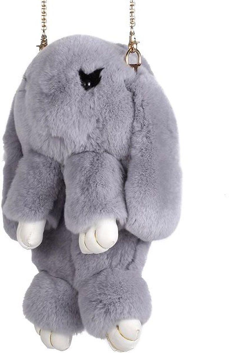 Vebtoy Рюкзак дошкольный Пушистый кролик цвет серый
