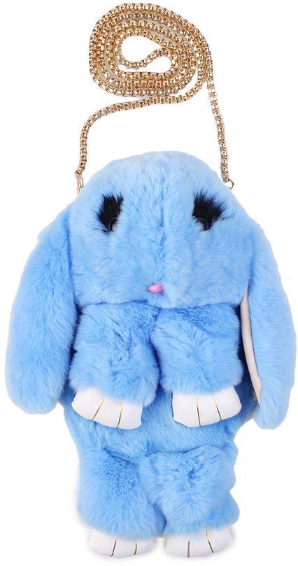 Vebtoy Рюкзак дошкольный Пушистый кролик цвет голубой