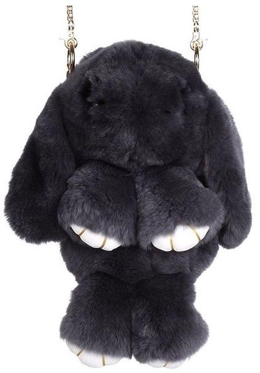 Vebtoy Рюкзак дошкольный Пушистый кролик цвет черный
