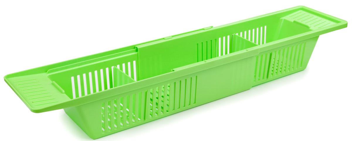 "Полка на ванну Berossi ""Toys"", цвет: салатный, 79,6 х 15, 1 х 9, 9 см"