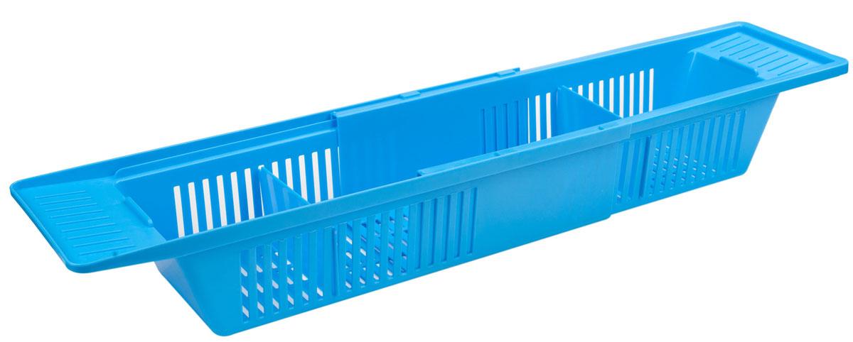 "Полка на ванну Berossi ""Toys"", цвет: голубая лагуна, 79,6 х 15, 1 х 9, 9 см"