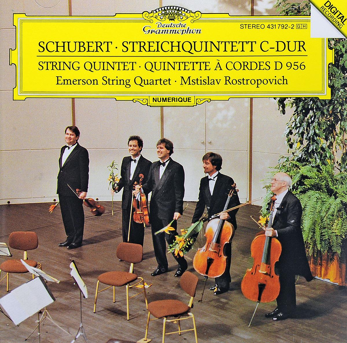 Schubert. Emerson String Quartet. Mstislav Rostropovich. Streichquintett C-dur (String Quintet · Quintette А Cordes D 956) цена в Москве и Питере