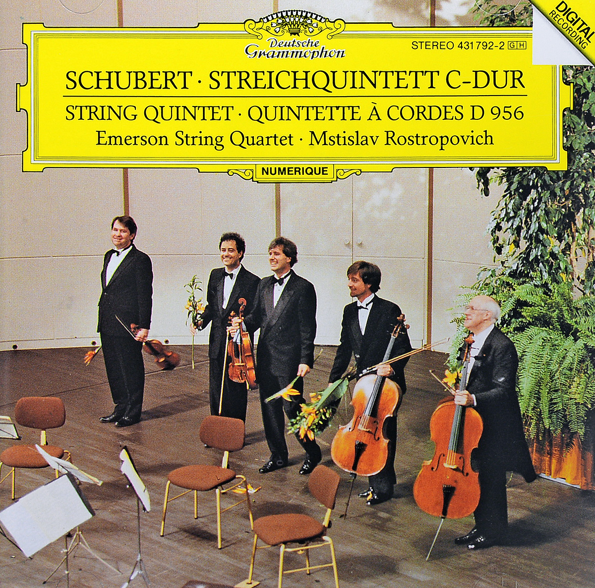 цена на Schubert. Emerson String Quartet. Mstislav Rostropovich. Streichquintett C-dur (String Quintet · Quintette А Cordes D 956)