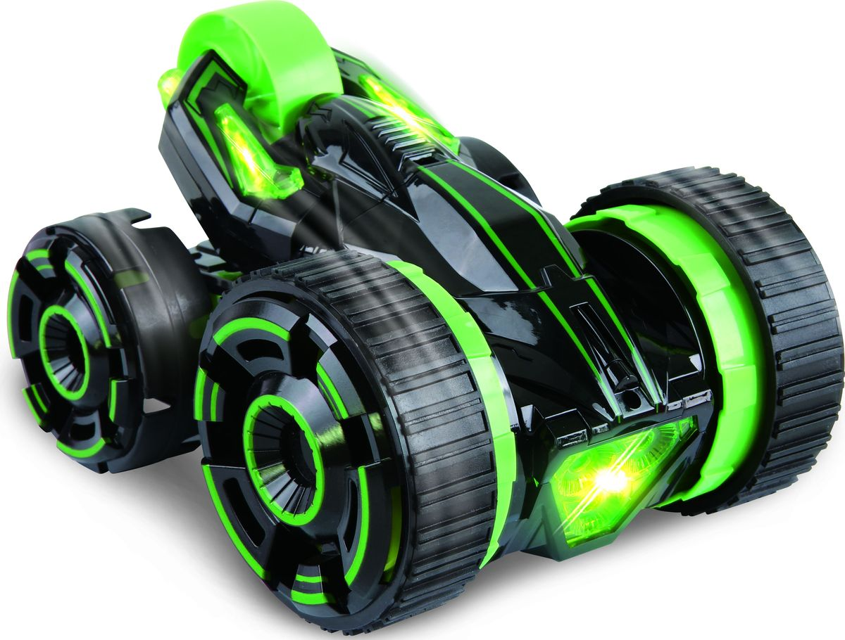 1TOY Машина-перевертыш на радиоуправлении Драйв цвет зеленый игрушки на радиоуправлении 1toy драйв