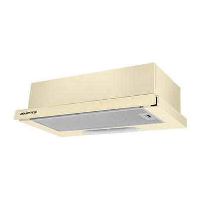 Встраиваемая вытяжка MAUNFELD VS LIGHT GLASS 50 (C) бежевый/бежевое стекло м/час): 420 Тип управления: механический Фильтр: жироулавливающий...