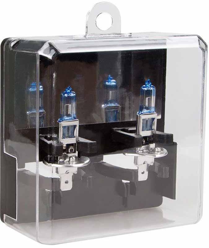 Лампа автомобильная галогенная Kraft Pro, H1, 12V, 55W (P14,5s), +80%, 2 шт