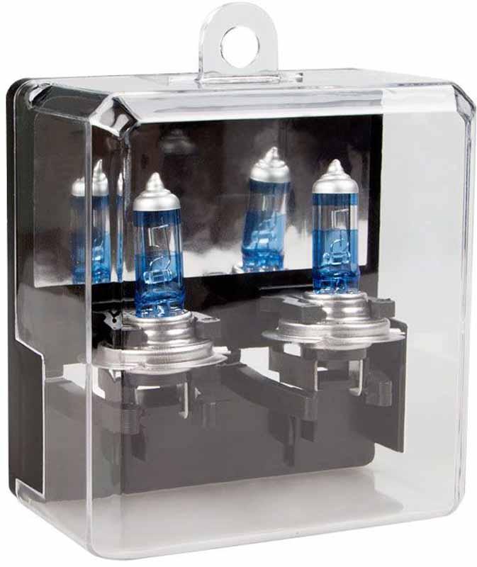 Лампа автомобильная галогенная Kraft Pro, H7, 12V, 55W (PX26d), +80%, 2 шт