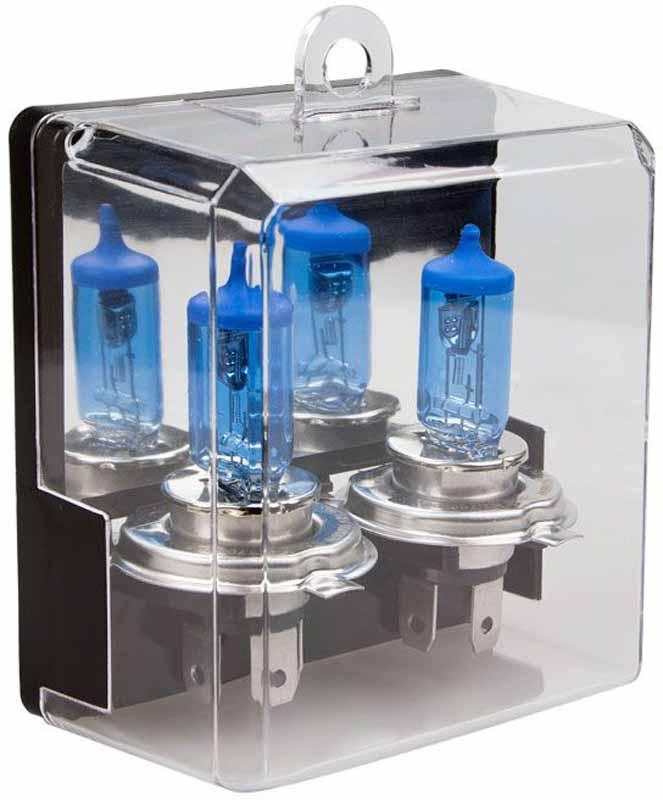 Лампа автомобильная галогенная Kraft Pro Xenon, H4, 12V, 55W (P43t), 2 шт