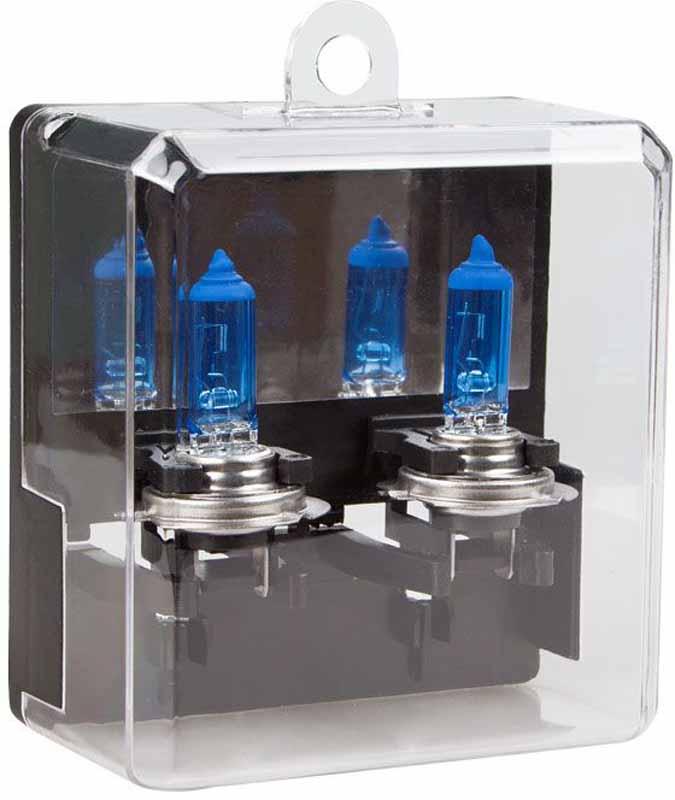 Лампа автомобильная галогенная Kraft Pro Xenon, H7, 12V, 55W (PX26d), 2 шт h7 35w 8000k 3200lm hid bluish white light xenon headlamps dc 12v pair