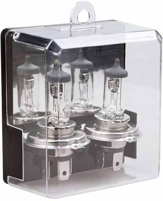"""Лампа автомобильная галогенная Kraft """"Pro Long Life"""", H4, 12V, 55W (P43t), 2 шт"""