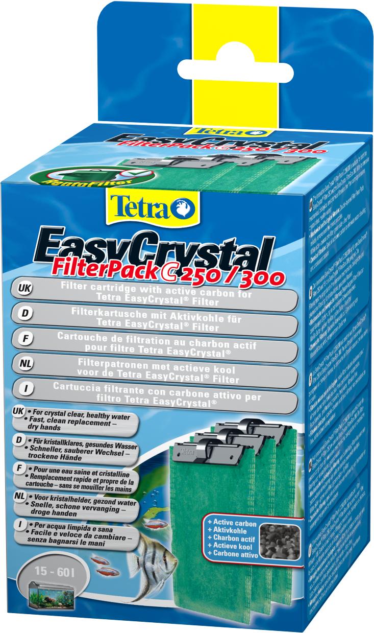 Фильтрующие картриджи Tetra EC 250/300, с углем, 3 шт фильтрующий материал tetra для фильтров tetra изи кристал фильтр пак с 250 300 губка уголь