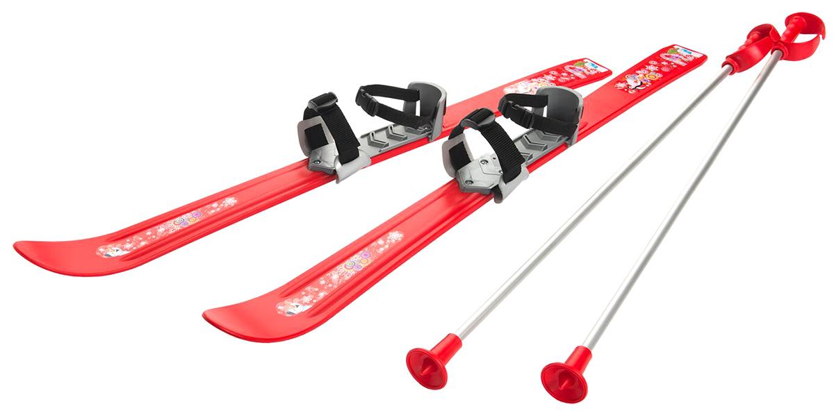 """Лыжи детские с палками и креплениями Gismo Riders """"Baby Ski"""", 90 см, цвет: красный"""