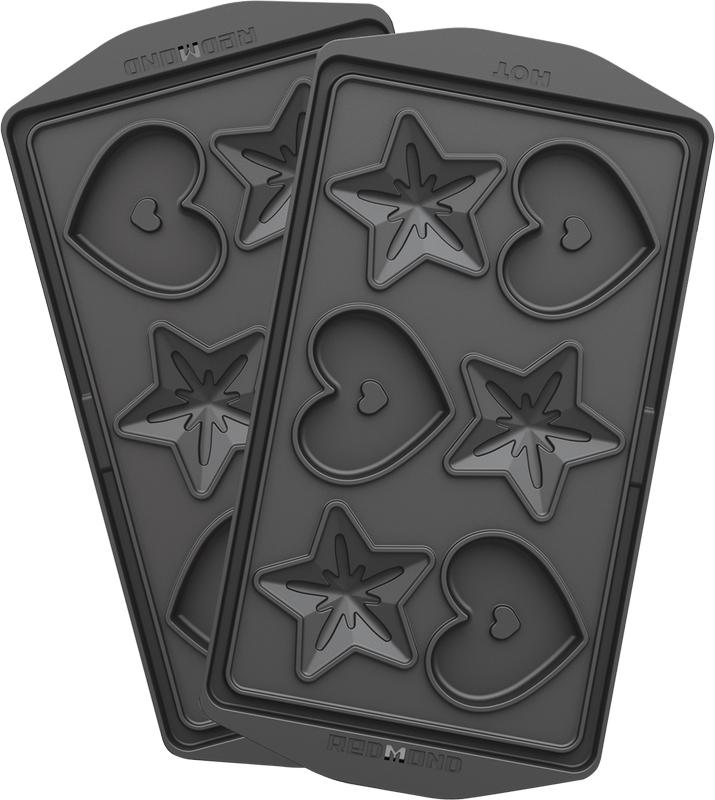 Redmond RAMB-24 Сердечки и звездочки, Black панель для мультипекаря