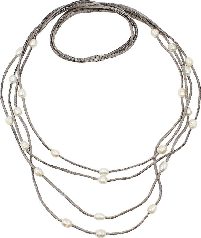 Колье Taya, цвет: серый. T-B-13341-NECK-GRAY gray high neck front wrapped trench coat
