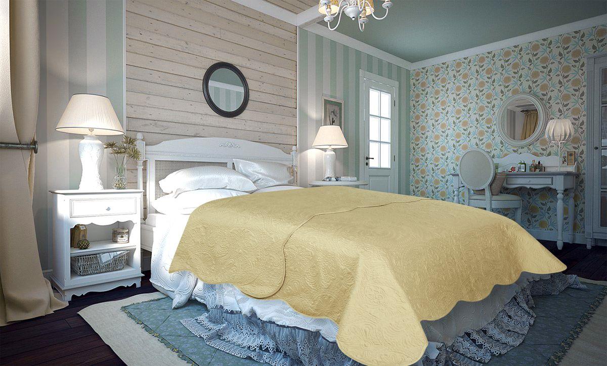 Покрывало Amore Mio Peisley, цвет: бежевый, 220 х 240 см покрывало letto pp54 бежевый 240 х 210 см