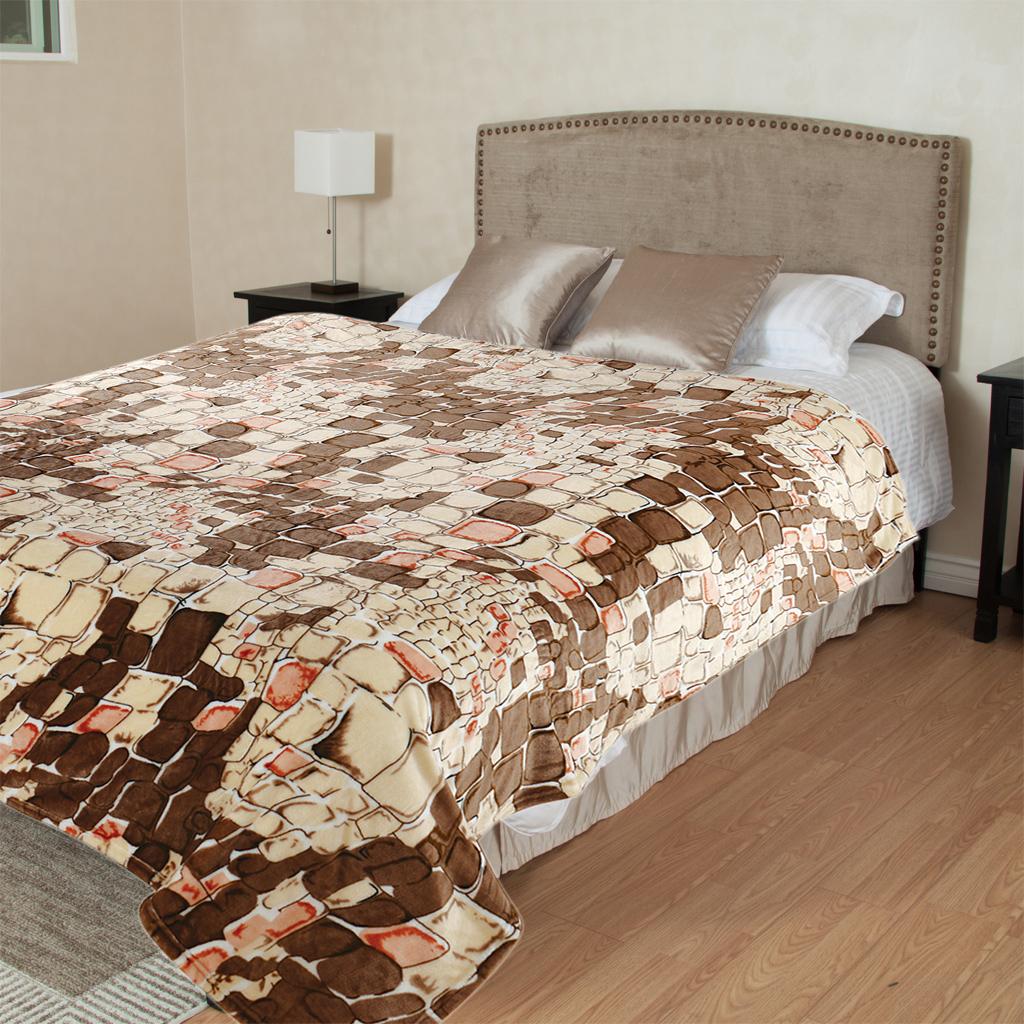 Плед TexRepublic Камешки, цвет: коричневый, 200 х 220 см. 86563 пледы hongda textile махровое чудо коричневый широкая полоса