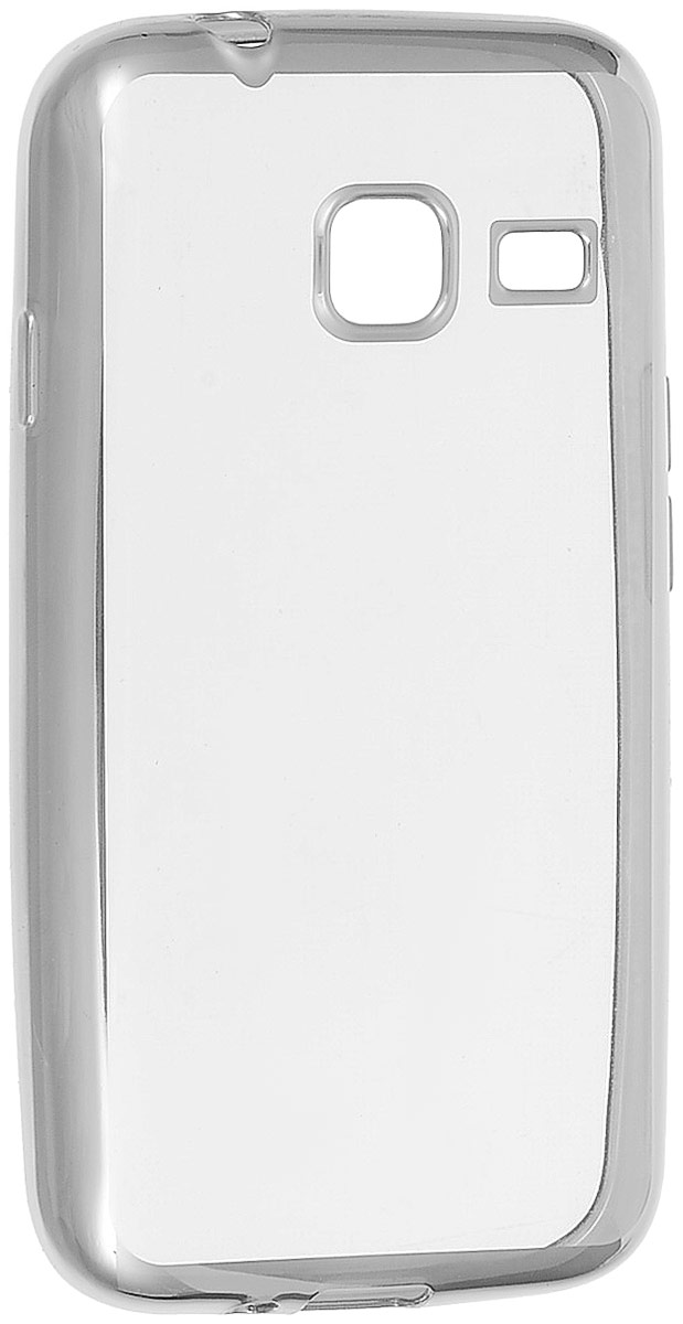 Skinbox 4People Silicone Chrome Border чехол-накладка для Samsung Galaxy J1 mini (2016), Silver стоимость