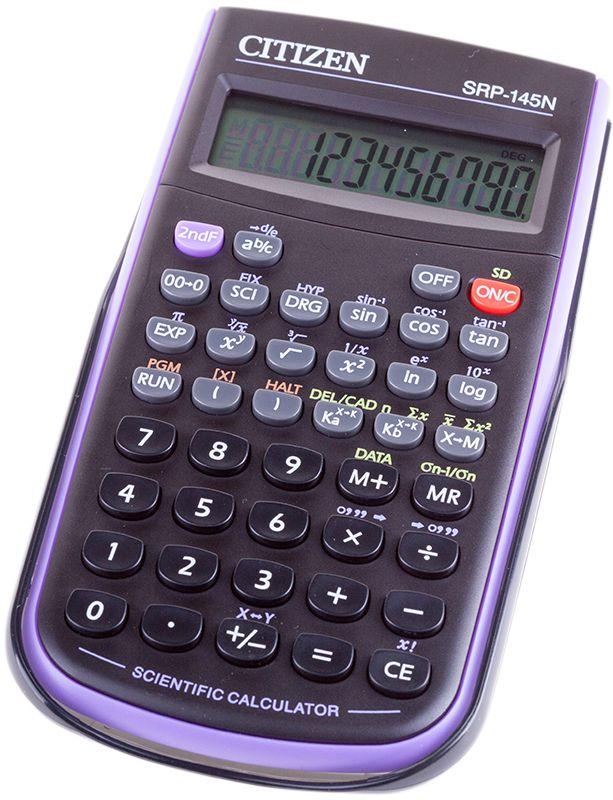 Citizen Инженерный калькулятор SRP-145NSRP-145NPUИнженерный программируемый калькулятор с однострочным дисплеем на 8+2 цифры. Выполняет арифметические действия, 86 математических функций, статистические расчеты. Имеет память на 5 прошлых действий и защиту памяти при отключении питания. От случайного нажатия клавиатуру защищает подвижная пластиковая крышка. Размеры 78 х 153 х 12 мм. Вес 118 г. Картонная упаковка.