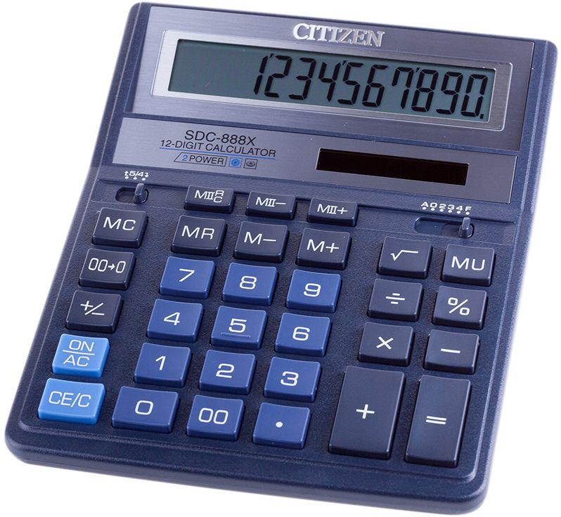 Citizen Настольный калькулятор цвет синий SDC-888XBL
