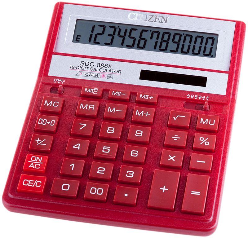 цена на Citizen Настольный калькулятор цвет красный SDC-888XRD