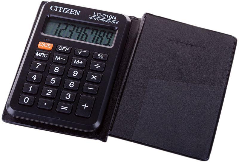 Citizen Карманный калькулятор цвет серый LC-210N калькулятор citizen lc 210n черный lc 210n