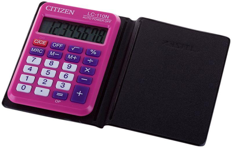 Citizen Карманный калькулятор LC-110N цвет розовый цена