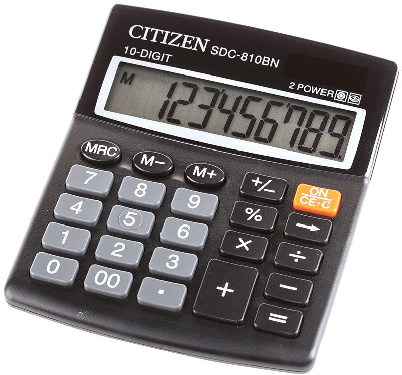 Citizen Настольный калькулятор SDC-810BN Уцененный товар (№3)