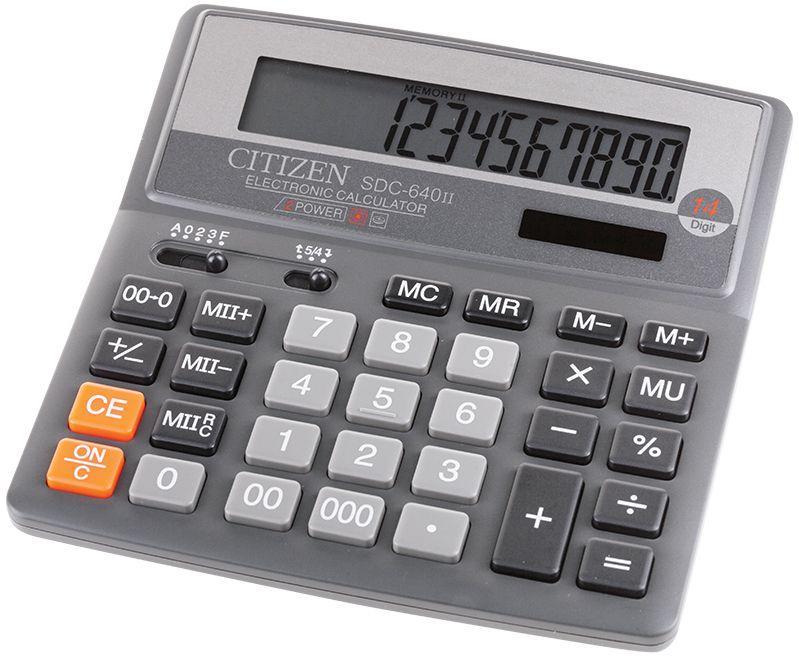 Citizen Настольный калькулятор SDC-640II калькулятор citizen sdc 640ii 14 цифр дисплей