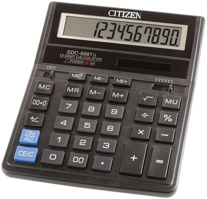 Citizen Настольный калькулятор SDC-888TII цвет черный