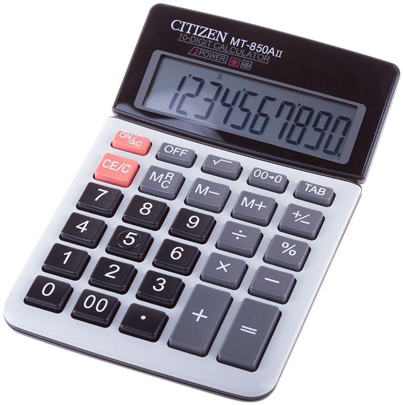 Citizen Настольный калькулятор MT-850AII калькулятор canon ws 1210t 12 разряда настольный регулируемый наклон дисплея черный